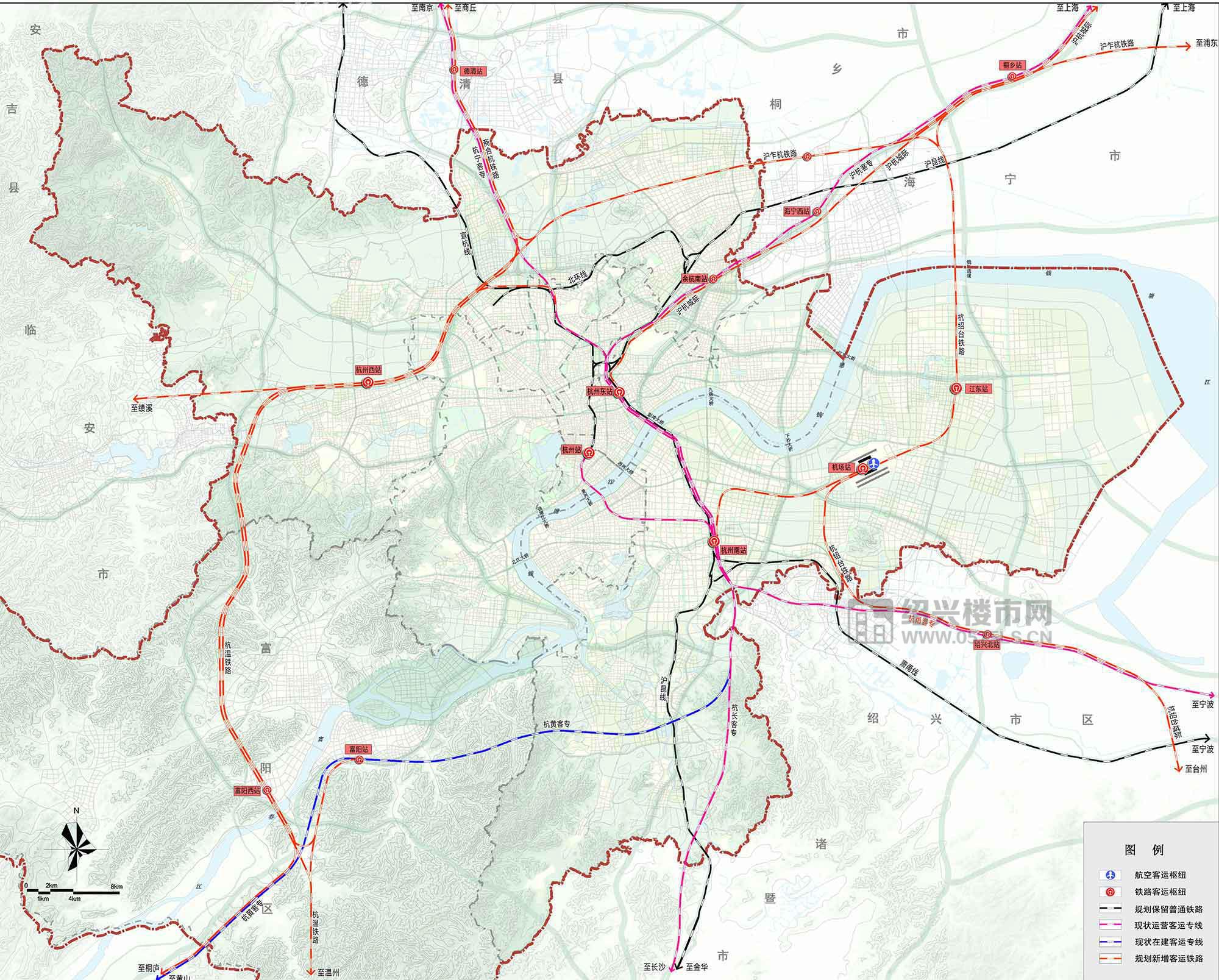 铁路系统与航空枢纽规划图_副本