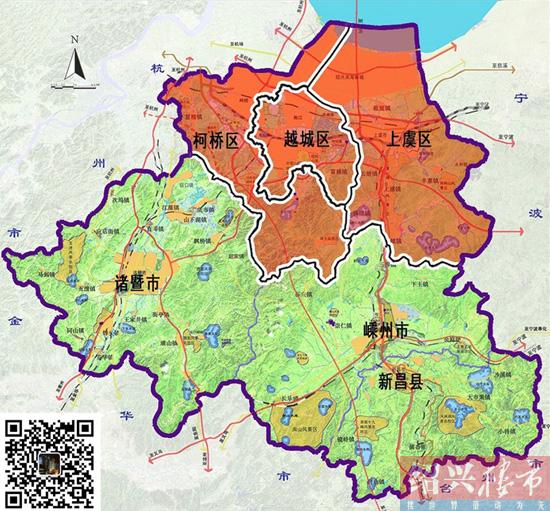 绍兴地图风景区