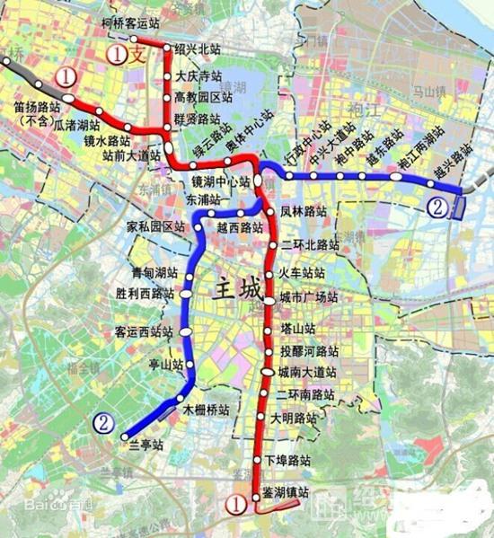 绍兴地铁规划路线