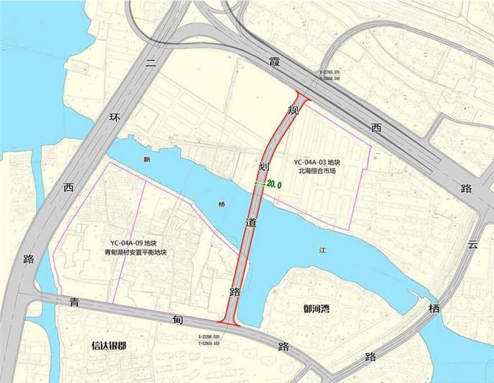 地块周边规划道路示意图