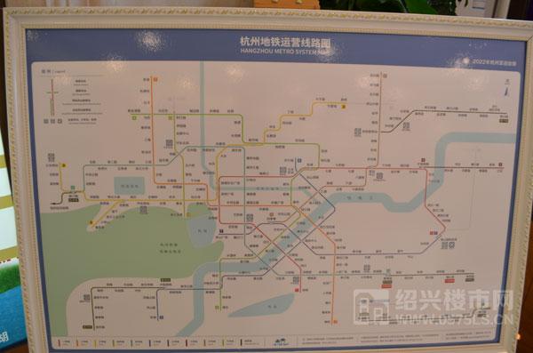 杭州地铁运营线路图