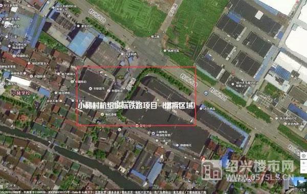 小赭村杭绍城际铁路项目区域