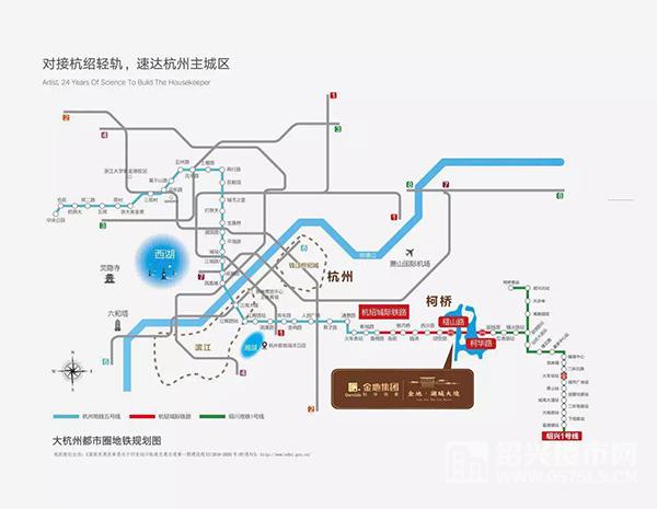 (杭绍城际铁路规划图)