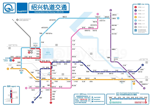 紹興軌道交通規劃圖