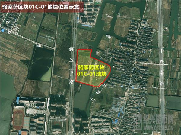 骆家葑区块01C-01地块位置示意(具体位置以国土资源局公示为准)