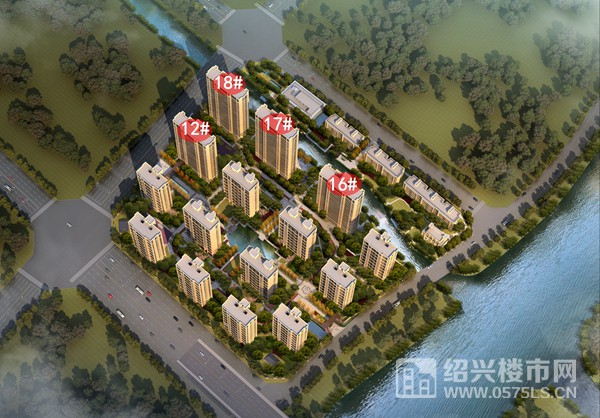 平墅L户型位于项目12#、16#、17#、18#楼东西边套