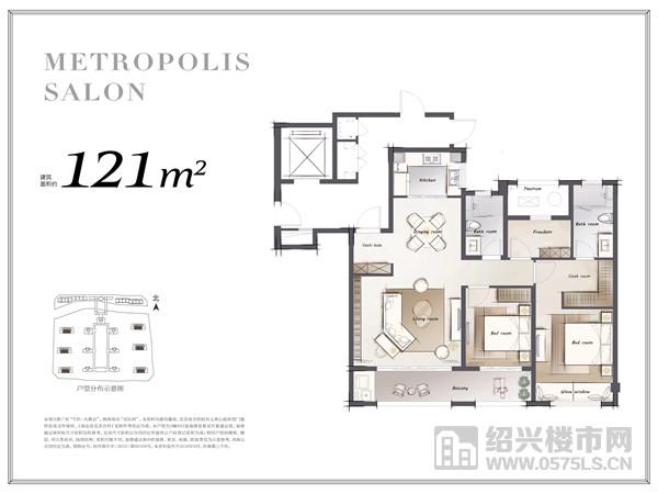 本户型为2幢803室装修及家装布置建议图