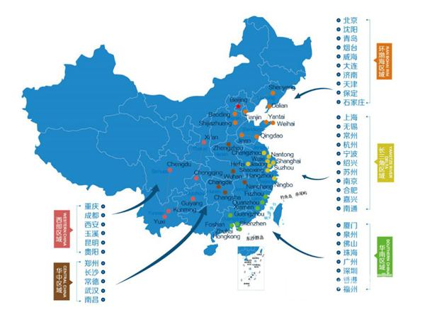 (龙湖集团全国布局图)