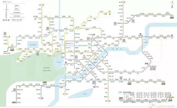 △杭州地铁线路规划示意图