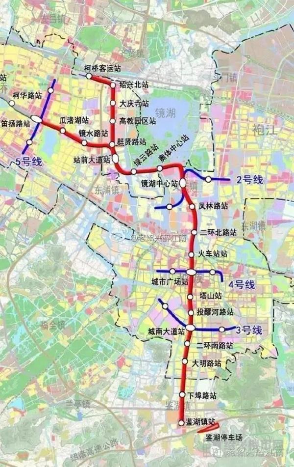 △绍兴地铁规划示意图