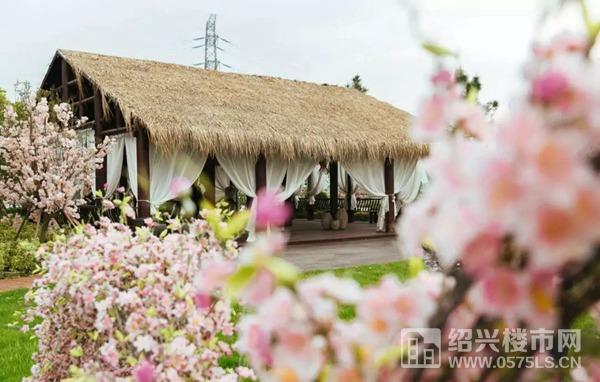 """""""爱情岛""""茅草屋实景图"""