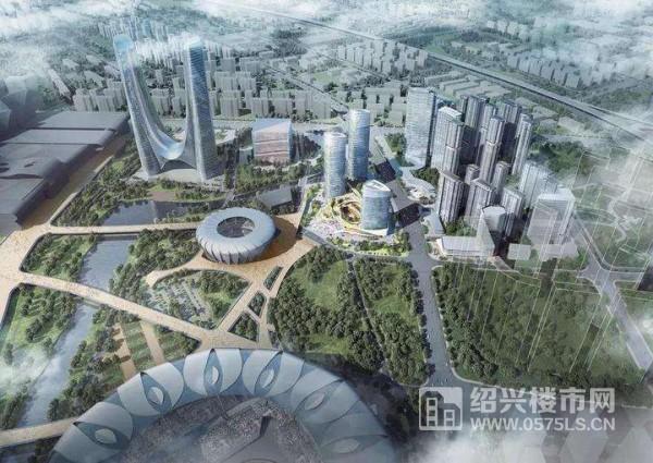 信達中心|杭州壹號院鳥瞰效果示意圖