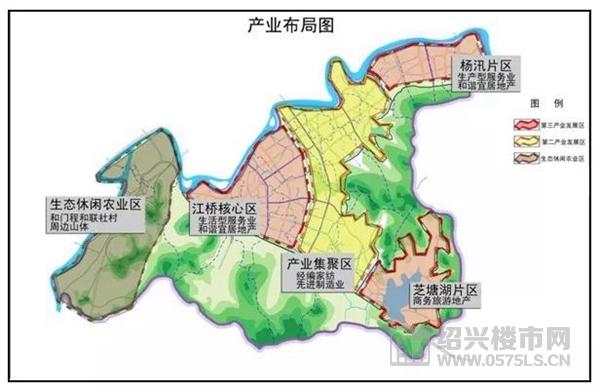 杨汛桥镇产业布局图
