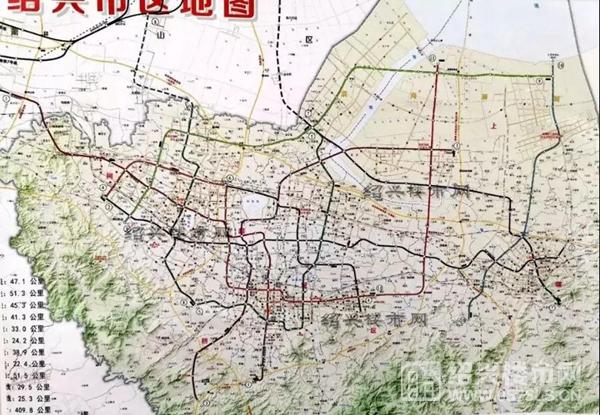 绍兴地铁规划一览 | 图片来源于绍兴楼市网
