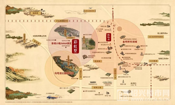 ◆钱江・彩虹墅区位图◆