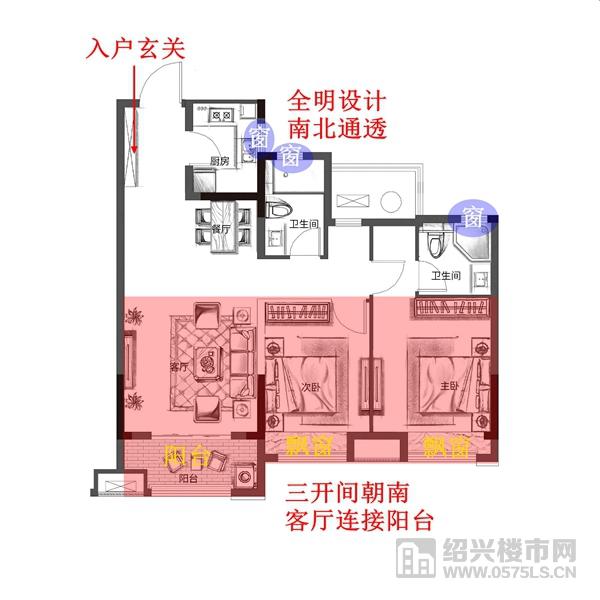 (房屋为全装修交付标准 此图为装修示意图)