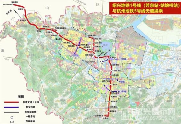 绍兴地铁1号线站点示意   来源网络