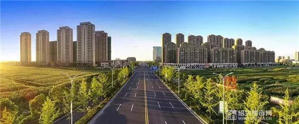 ▲滨海新城商贸区 (黄富强摄/绍兴大城市建设规划公众号)