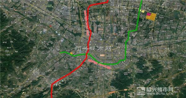 ▲绍兴地铁3号线(2019.7.25版规划图源:绍兴大城市建设规划公众号)