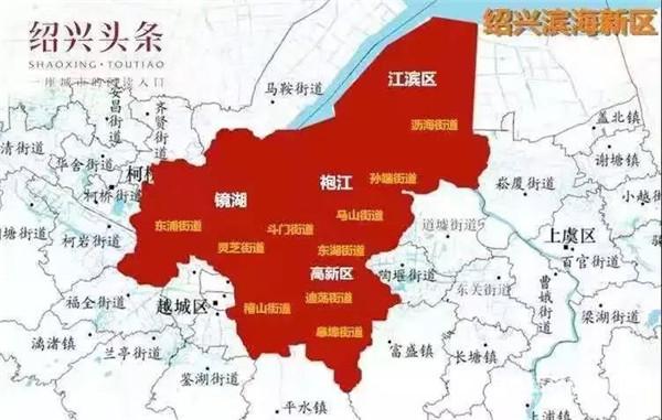 滨海新区规划图(图源:绍兴头条)