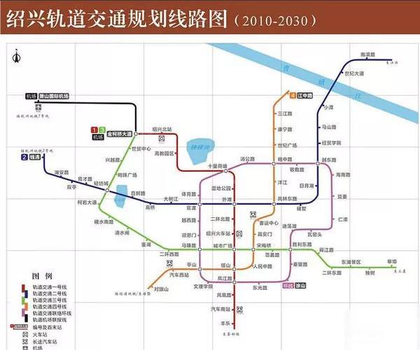 ▲绍兴轨道交通规划线路图