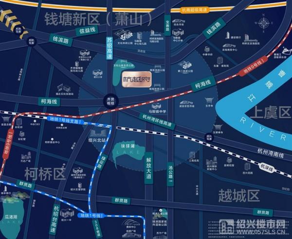 杭越府卫星图