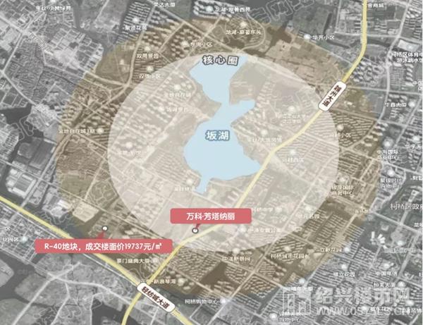 坂湖核心区示意图