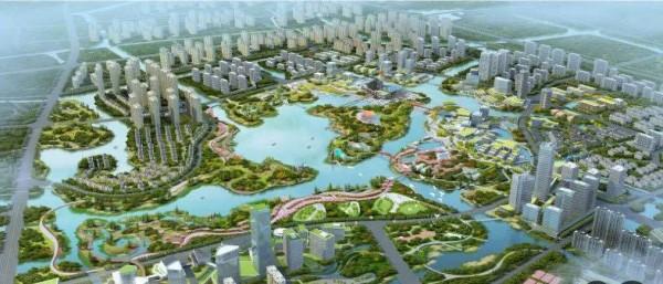 马宅池城市公园规划设计效果图(图源网络)