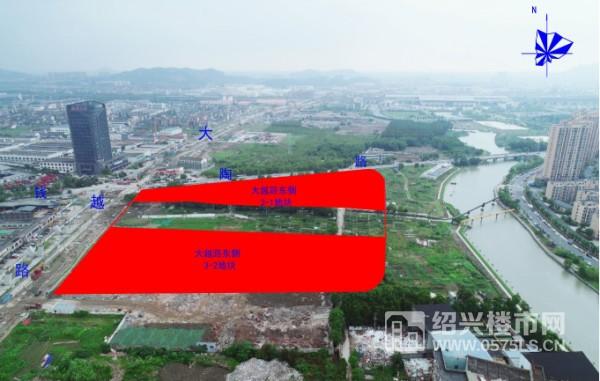 图|本月15日即将开拍的大越东侧3号地块位置示意