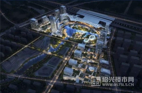 图|绍兴高铁北站TOD综合体项目效果图 (来源绍兴市自然资源和规划局)