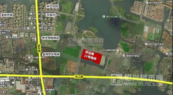 洋泾湖11号地块位置示意