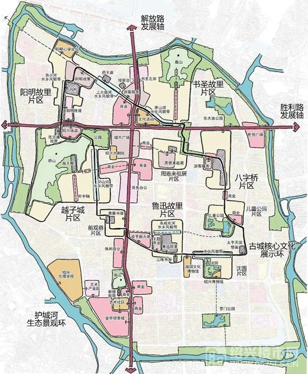 △绍兴古城保护利用总体城市设计