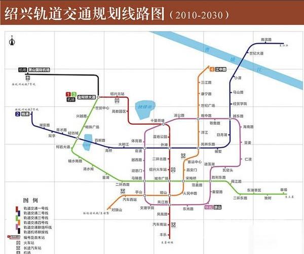 (绍兴地铁规划图)