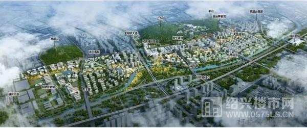 △柯桥未来之城整体鸟瞰图